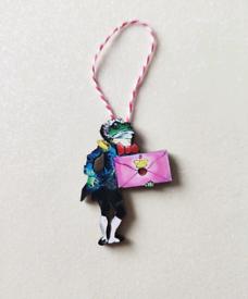 Vintage Retro Christmas Alice in Wonderland Frog Footman Decoration