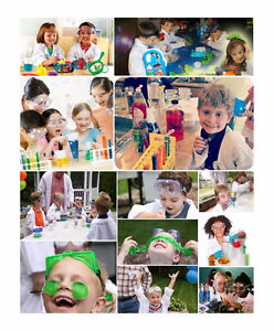 Interactive science party for kids birthday bubble show