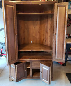 Handcrafted TV armoire/ storage shelf