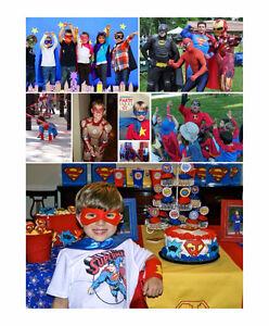SUPERHERO THEMED Kids Birthday PARTY ENTERTAINMENT