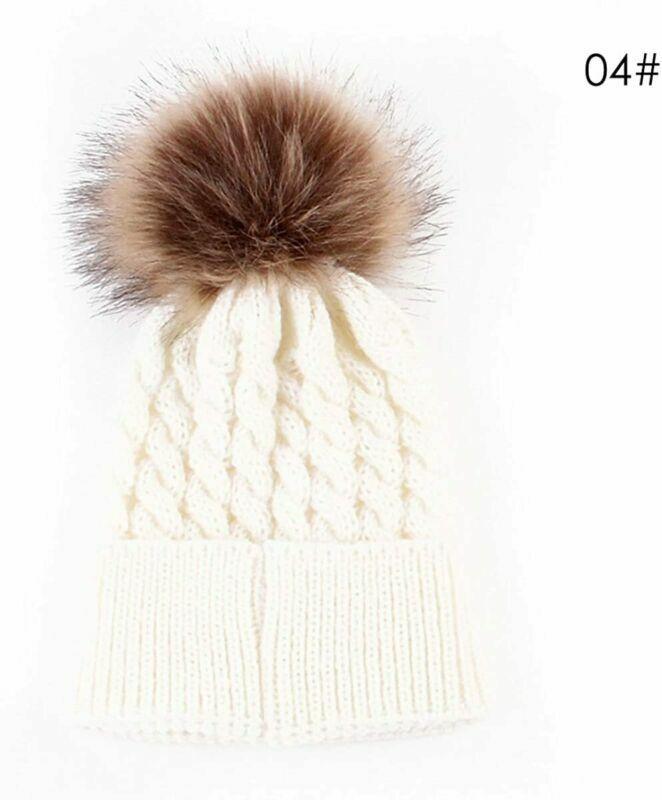 Kid Crochet Fur Hairball Beanie