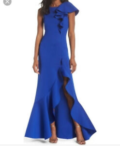 Eliza J cobalt maxi gown Prom evening gown size 8