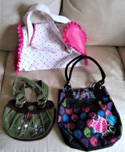 LOT OF 3 GIRLS PURSES HANDBAG MEXX, BARBIE AND MONSTER HIGH