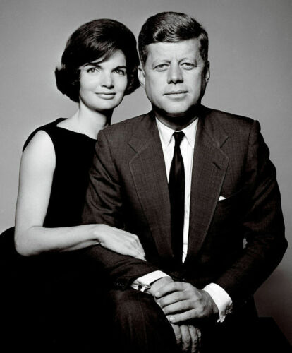 JOHN F. KENNEDY & JACKIE 8X10 PHOTO US USA PRESIDENT PICTURE JACQUELINE