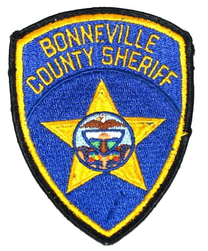 BONNEVILLE COUNTY IDAHO ID Sheriff Police Patch SHIELD EAGLE USED ~