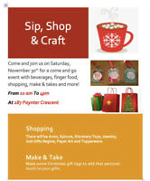 Sip, Shop & Craft
