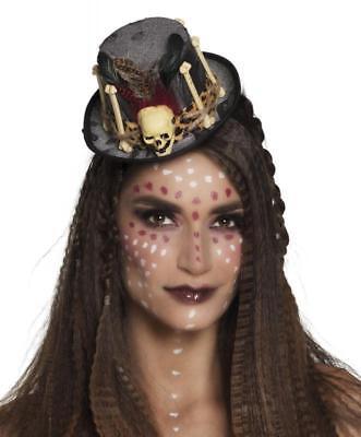 inder Hut mit Knochen Pirat Barock Kostüm Haarreif Damen (Damen Piraten Haar)