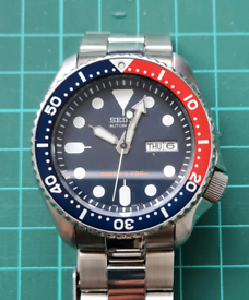 Seiko SKX007 Automatic Pepsi Bezel Divers Watch 200m