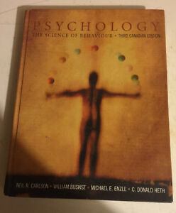 Psychology The Science of Behaviour Third Canadian Edition