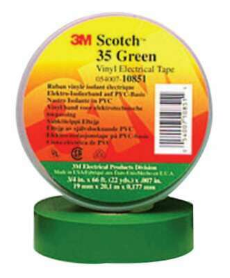 3m Electrical Scotch Vinyl Electrical Color Coding Tapes 35 054007102656