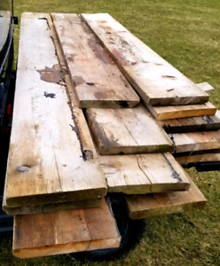 12 Reclaimed planks.  old pine