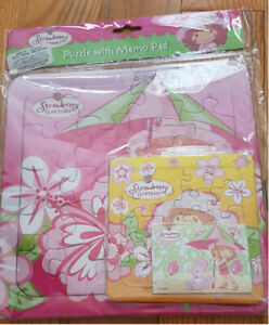 Strawberry Shortcake Puzzle and Memo Pad