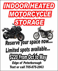INDOOR HEATED MOTORCYCLE AND ATV STORAGE