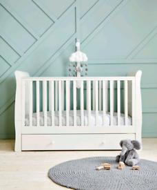 Mamas & Papas Mia Baby Cot Bed Cotbed White