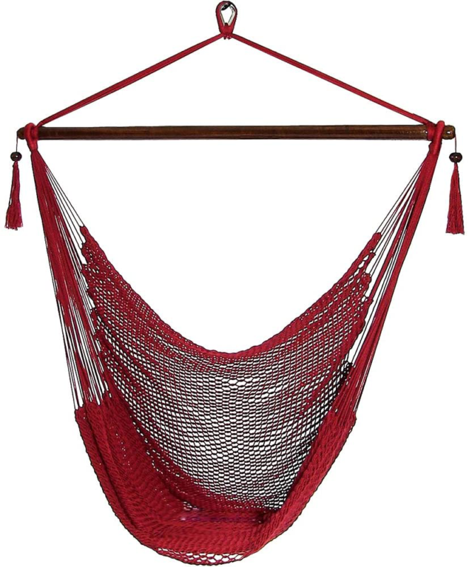 Sunnydaze Hanging Rope Hammock Chair Swing, Extra Large Cari
