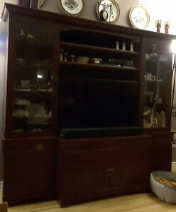 entertainment unit with TV opening