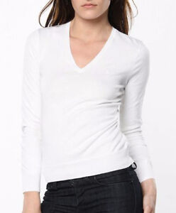 Women's white cable knit V neck sweater Size Small New with tags London Ontario image 1