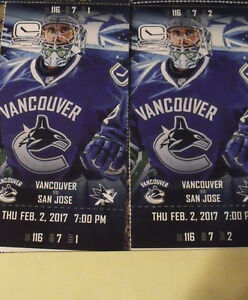 Canucks Vs Sharks Feb 2..Pair close to the Visitors Bench