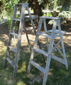 "VINTAGE FOLD OUT ""A""  LINE STEP LADDERS - SHABBY CHIC - DISPLAY"