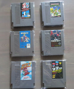 JEUX NINTENDO NES MARIO BROS 2-PUNCH OUT-PAPERBOY-NINJA TURTLES