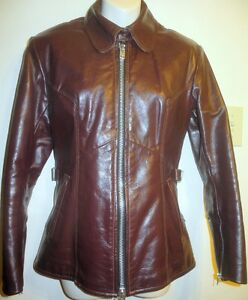 "NEW Womens XS BIKERS LEATHER JACKET Motorcycle 32""b Canada $1200"