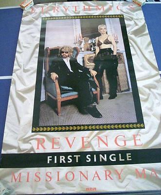 The Eurythmics Revenge Missionary Man Poster 1986 Vintage Eighties