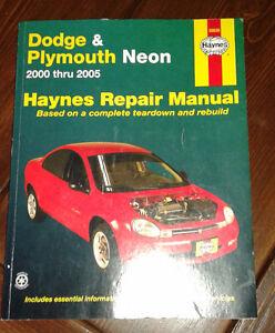 Haynes Repair Manual - Dodge & Plymouth Neon 2000 - 2005
