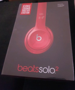 Brand new BEATS BY DRE SOLO 2 - RED wired headphones