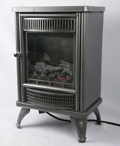 Heater with fan and thermostat  and imitation flames and embers