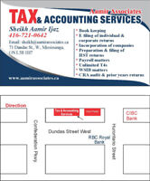 Affordable Tax & Accounting Services in Mississauga and Brampton