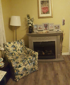 couch and chair set   floral solid built but needs repairs