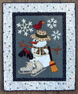 Snowman Applique Wall-hanging Pattern