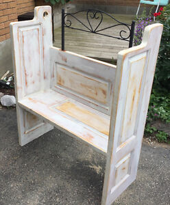 Hand Made One of a Kind Sold Pine Bench