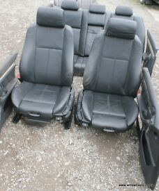 BMW E39 M Sport Black Leather Interior Door Cards Seats 540i 535i 530i 530d 525i 525d 525tds 520i