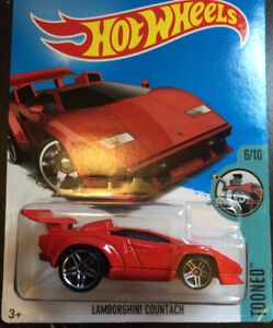 HOT WHEELS Red Lamborghini Countach Tooned