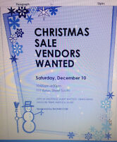 VENDORS WANTED.....CHRISTMAS SALE