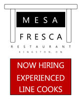 Now Hiring Experienced Line Cooks