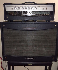 CRATE V33H Class A Tube Ampli + V212B guitar speaker enclosure