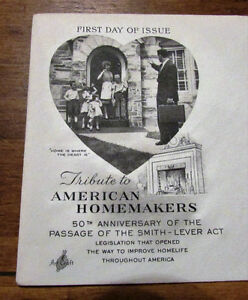1964 Tribute to American Homemakers 5 Cent First Day Cover Kitchener / Waterloo Kitchener Area image 2