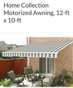 Retractable motorized 12ft awning new