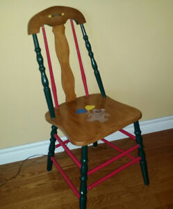 Beautiful Solid Maple Chair for Nursery or Playroom