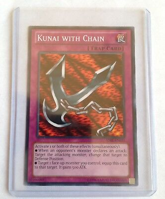Kunai With Chain Yugioh Trap Card With A Great Protector Sleeve Best Good (Best Trap Cards)