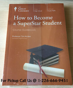 NEW Great Courses How to Become a Superstar Student Course Book