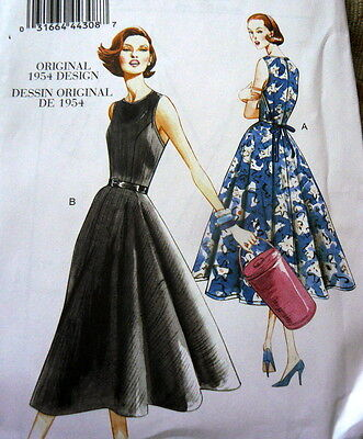 1950s VOGUE VINTAGE MODEL WRAP BACK DRESS SEWING PATTERN 14-16-18-20-22 UC
