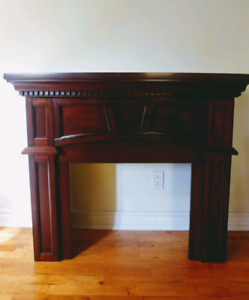 Fire place mantel in wood