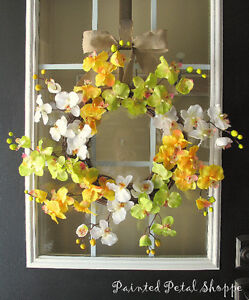 Spring Orchid Wreath/Fuchsia/Yellow Orchid/Spring Wreath Belleville Belleville Area image 4