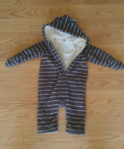 Fleece snow suit