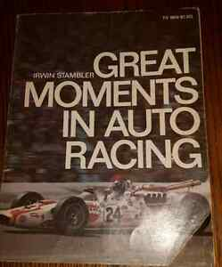1968 GREAT MOMENTS IN AUTO RACING book