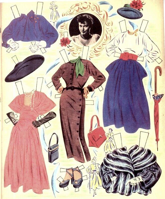 VINTAGE UNCUT 1940S Robin Hood MARIAN PAPER DOLL LASER REPRO~LO PR~HI QU FREE SH