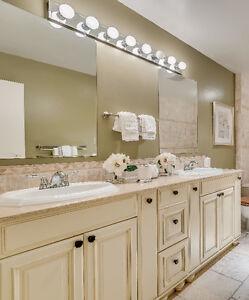 Large Double-Sink Bathroom Vanity